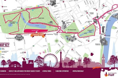 Streckenplan London Half