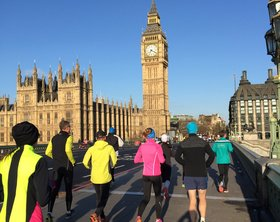 London Marathon - Morgenfooting